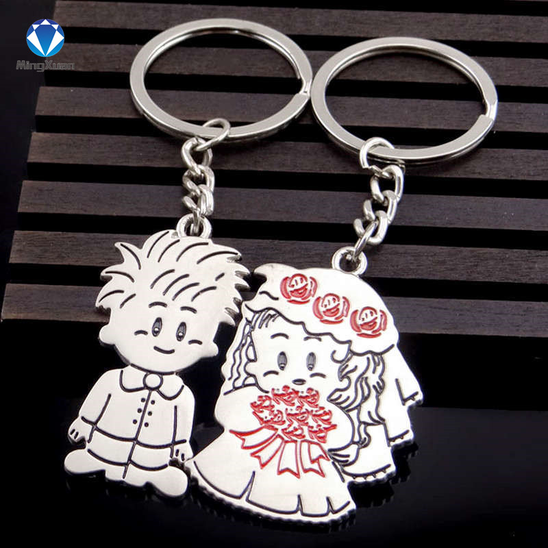 Novelty Items Casual Par Kärlek Keychain Cartoon Key Chain Lovers - Märkessmycken - Foto 5