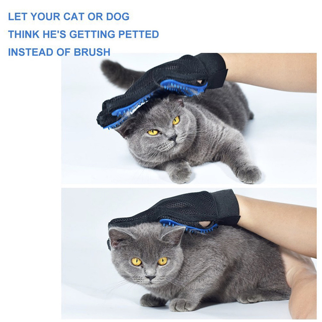 Pet Hair Glove Comb Dog Cat Grooming  Glove Cleaning Deshedding Left Right Hand Hair Removal Brush Promote Blood Circulation 4