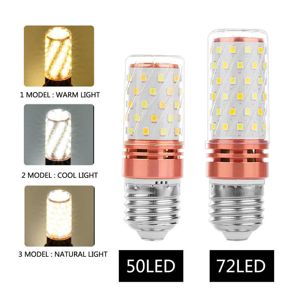 GLSZ E27 Corn Bulb LED Bulb E14 LED Lamp SMD2835 AC 220V 240V Chandelier Candle LED Light For Home Decoration Lighting Bedroom