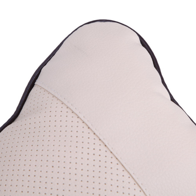 Perforating Leather Car Headrest Cushion Belt Harness Shoulder Pad Cover Cushion Supplies Support Neck Auto Safety Pillow