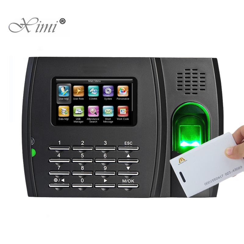 New!!!ZK U8 Biometric Fingerprint Time Attendance Time Clock With RFID And MF Card Reader Employee Attendance Time Recorder