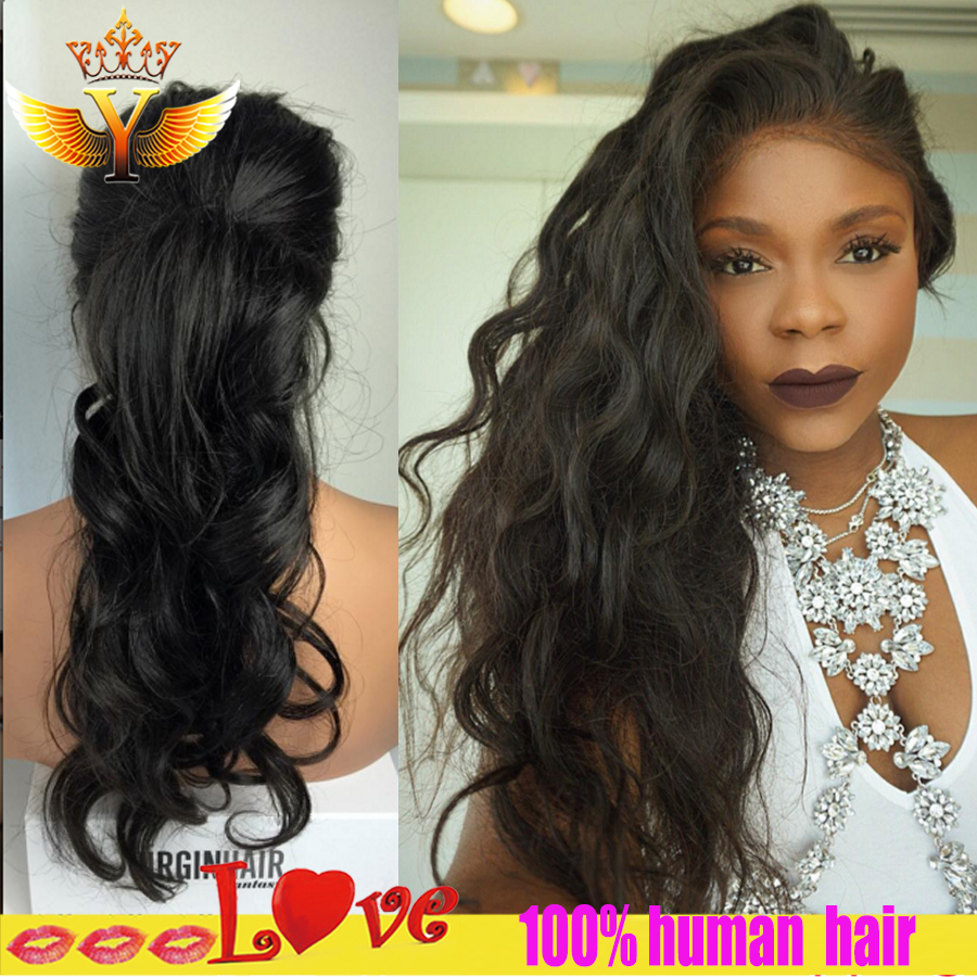 Brazilian Full Lace Human Hair Wigs With Baby Hair Glueless Lace Front -2944