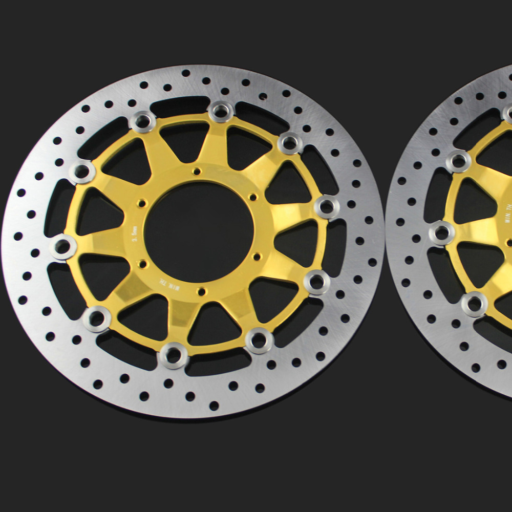 Gold 2 pieces motorcycle Front Disc Brake Rotor Scooter Front Rear Disc Brake Rotor for HONDA CBR1000 2006 2007 motorcycle front