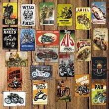 [ DecorMan ] Classic Motor Racing Metal Signs Custom wholesale Mural Wall Paintings Bar PUB Decor DD-1693