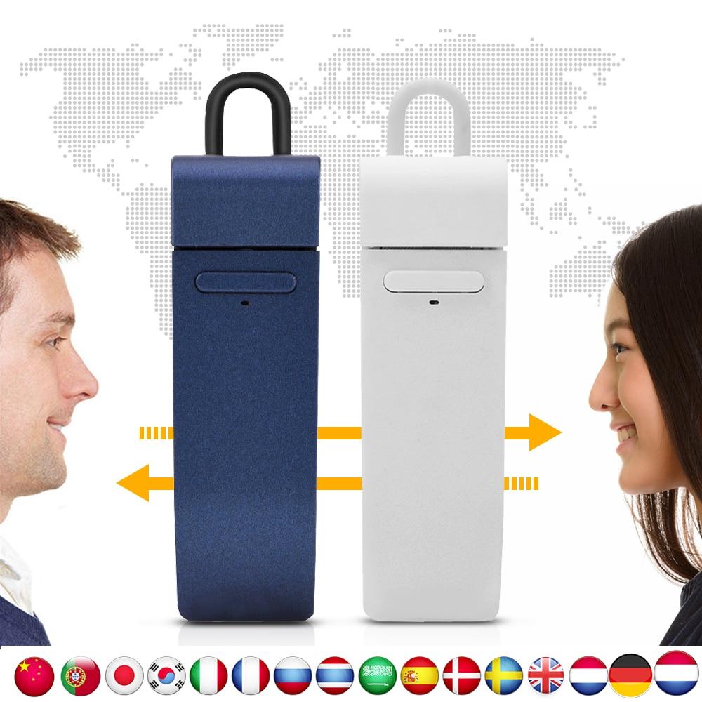 VBESTLIFE Multi-Langue instantanée traducteur voix en temps Réel traduire avec bluetooth écouteurs traductor pour Business Learning