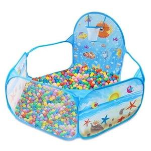 Image 1 - Nowe zabawki namiot seria ocean gra animowana piłka Pits przenośny basen składany dzieci sport na świeżym powietrzu edukacyjne zabawki z koszem