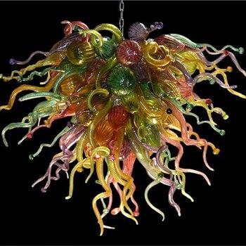 ขนาดเล็กที่มีสีสัน Murano แก้วโคมไฟระย้าสำหรับ Home Decor ในร่ม