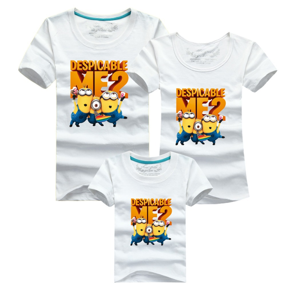af53f3f18 Summer minions despicable me 2 children t shirts family matching ...