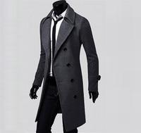2018 Fashion jacket Spring&Autumn Plus Size wrap coa Winter Men Slim Stylish Trench Coat Double Breasted Long Jacket Parka