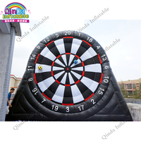 4m 0.55 mm PVC Inflatable dart board for sale ,inflatable football dart board game with air blower and sticky soccer