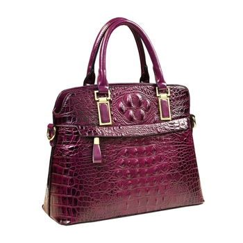 Luxury designer high quality women leather handbags alligator shell messenger bags famous brands ladies office top handle bags