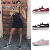 SARAIRIS/2019 г. весенне-осенняя Брендовая обувь, большие размеры 35-44, повседневная Прямая поставка, Женская парусиновая обувь на плоской подошве, ...