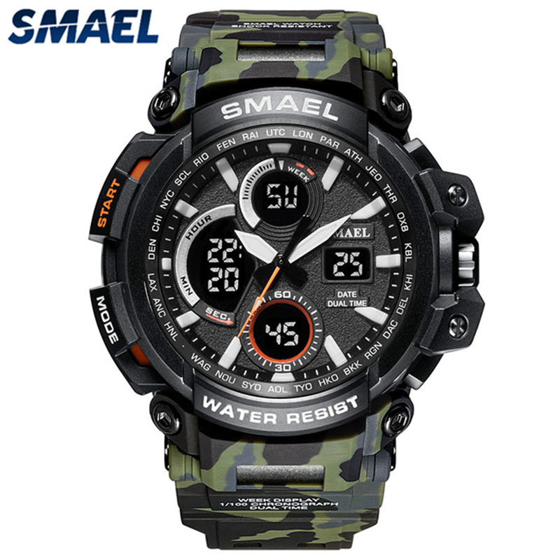 Camouflage Digital Quartz Casual Sport Waterproof Military Watch