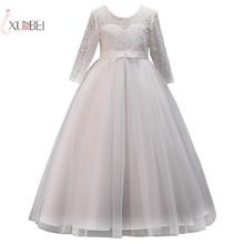 2019 Tulle Lace Kids Flower Girl Dresses Half Sleeve Wedding Party Pageant Gown communion dress vestidos de comunion pink flower girl dresses ball gown sleeveless o neck lace up solid vestidos de comunion holy communion dresses pageant gowns