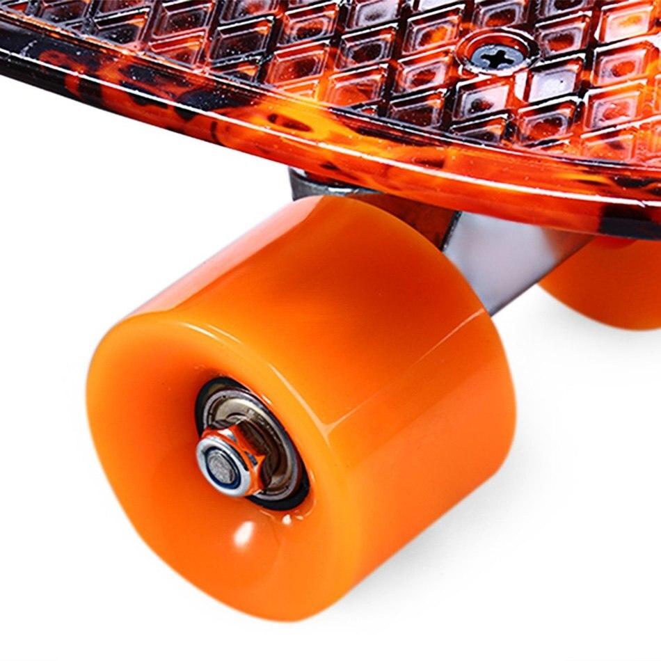 Planche à roulettes de Faction d'outlife imprimant les planches à roulettes complètes de modèle de flamme de feu de l'enfer 22 Inch rétro croiseur Longboard Skatecycle - 3