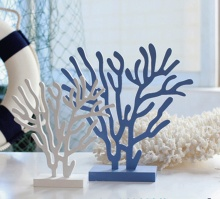 2pcs/lot L/M Wooden Coral Hand-painted Blue or White Wooden Mediterranean Sea Style Tree Home Deco Wooden Craft Hot Selling! m style диван coral