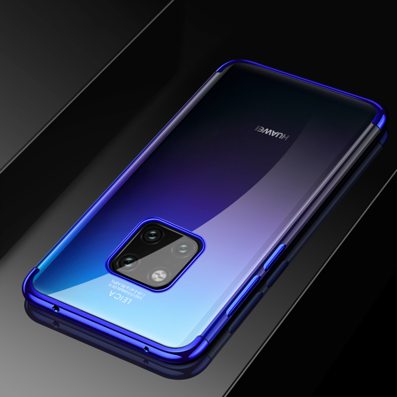 For Huawei Mate 20 Pro Case Luxury Laser Plating Soft Clear Back Cover For Huawei Mate 20 Mate20 Phone Cases