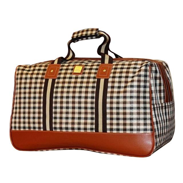 Novo 2016 Bagagem bolsa de Viagem Saco Da Forma Saco de Nylon Impermeável Saco Mulheres de Grande Capacidade de Viagem Duffle Bags Tamanho 49*30*25 cm YA0402