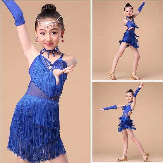 16caa86a0953 Online Shop Sexy Cheap Latin Dance Dress Kids Children Girls Fringe ...