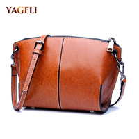 2018 genuine leather shoulder messenger bags for women small shell crossbody bags for women brand design luxury cow shoulder bag
