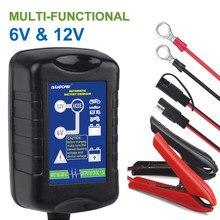 12v 6a carregador de bateria carro motocicleta agm gel molhado vrla chumbo ácido bateria de carregamento inteligente pulso mantenedor 100-240 v