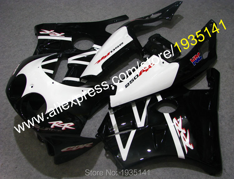 Hot Sales,For Honda CBR250RR 1990 1991 1992 1993 1994 MC22 CBR250R 90-94 Black White ABS Motorcycle Fairing (Injection molding) silicone hose for mitsubishi eclipse pse gst gsx turbo 1990 1994 1993 1992 1991