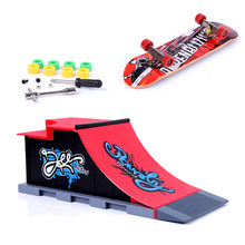 Hot Sale Mini Skateboard and Ramp Accessories set Finger Skateboards Children Funny Club Components Kids Toys for Adults C#(China)