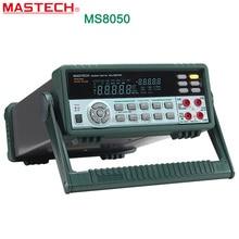 MASTECH MS8050 5 1/2 Multímetro Digital 53 K Cuentas Alta Accurayc Banco/Rms real con caja de transporte