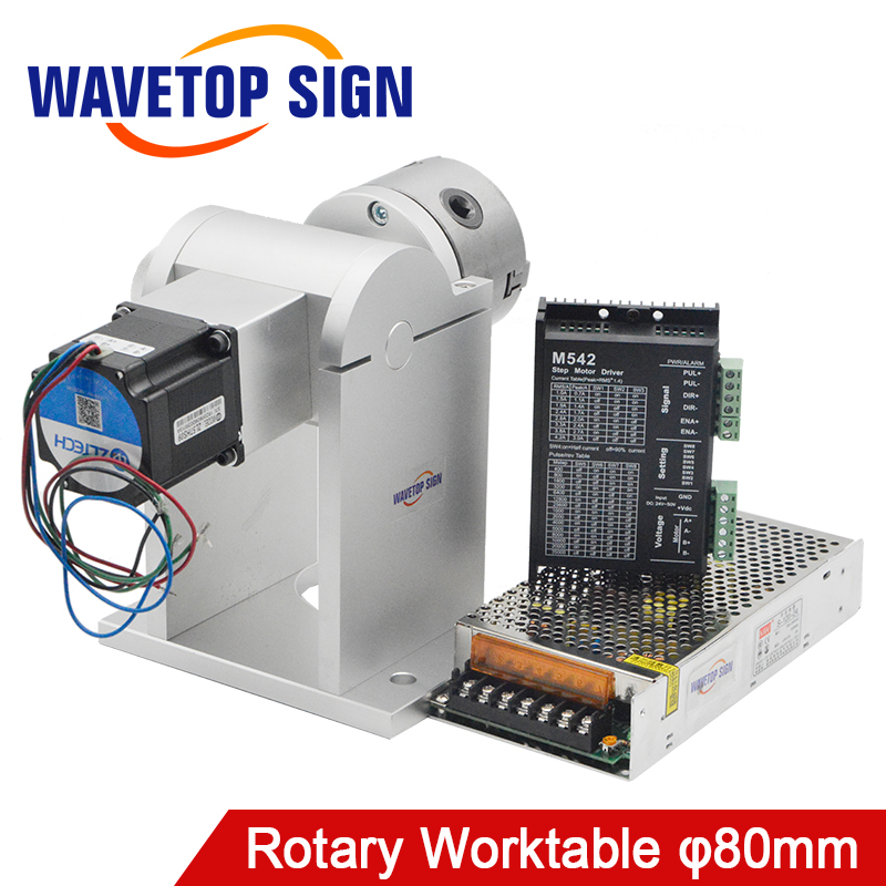 Laser Machine de Marquage table rotative 180 Degrés Avec 80 Trois-jaw Chuck 2 phase 57 moteur pas à pas 2 Phase Pilote