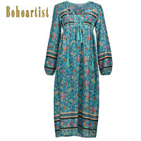 Summer Print Boho Maxi Dress Loose Vintage Beach Long Dress African Ethnic Floral Casual Plus Size