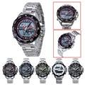 Dual Display Watch Men Watch Waterproof Full Steel Sport Watches LED Digital Watches Hour Clock horloge relogio masculino