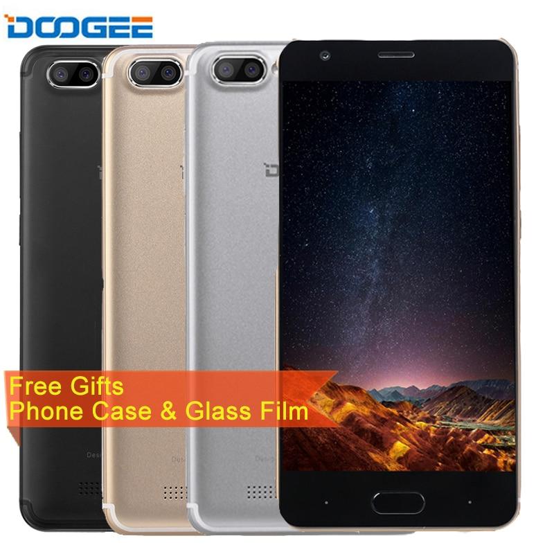 DOOGEE X20 5.0'' Smartphone RAM 2GB ROM 16GB Android 7.0 MT6580 Quad Core Rear Camera with LED Flash 2580mAh GSM WCDMA GPS OTA