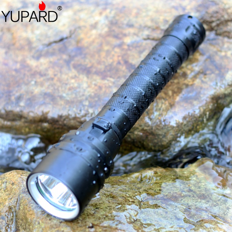 YUPARD XM-L2 LED T6 3*L2  Flashlight Torch Waterproof underwater diver diving Lamp white yellow light 4000 lumens 18650 battery diving 4000 lumens cree xm l2 led 3 l2 led t6 flashlight torch waterproof underwear lamp light super white light