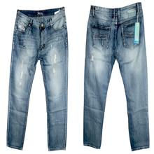 Мужская мода Джинсы Случайный Досуг Брюки Синий Серый Друг Skinny Jeans Мужчины Хлопок Тонкий Прямой Длинные Брюки