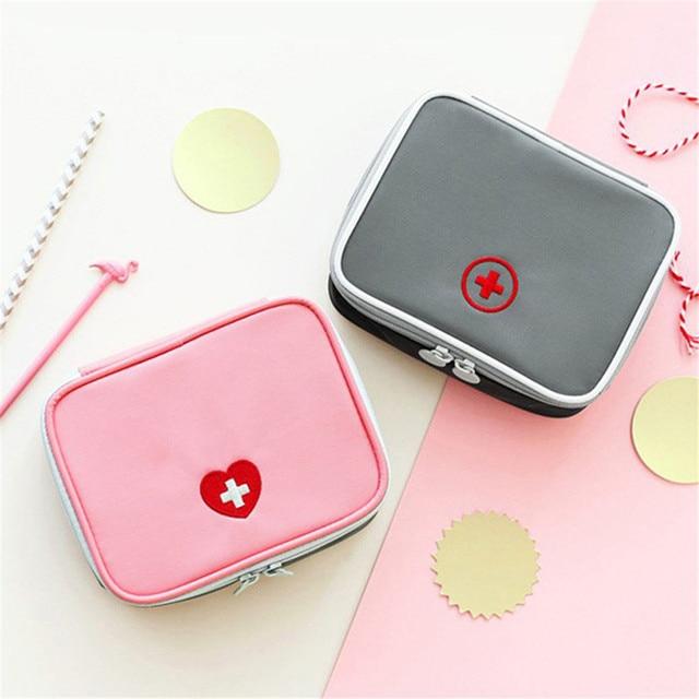 FOURETAW 1 Piece Creative Portable Travel Medical Kit Desk Mini First Aid Kit Sundries Storage Bags Outdoor Car First Aid Bag