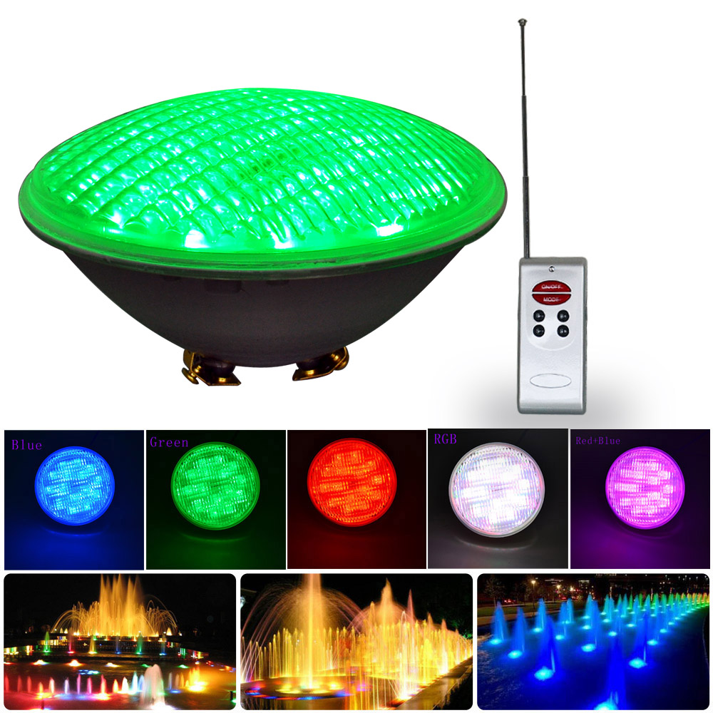 цена на Jiawen 2pcs Led Swimming Pool Light 40W RGB PAR56 DC 12V Underwater lights free shipping