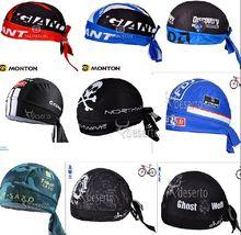 Quick Dry 2016 Cycling Cap Sweatproof Sunscreen Headwear Bike Team Scarf Coif Bicycle Bandana Pirate Headband Hood Sports Hat
