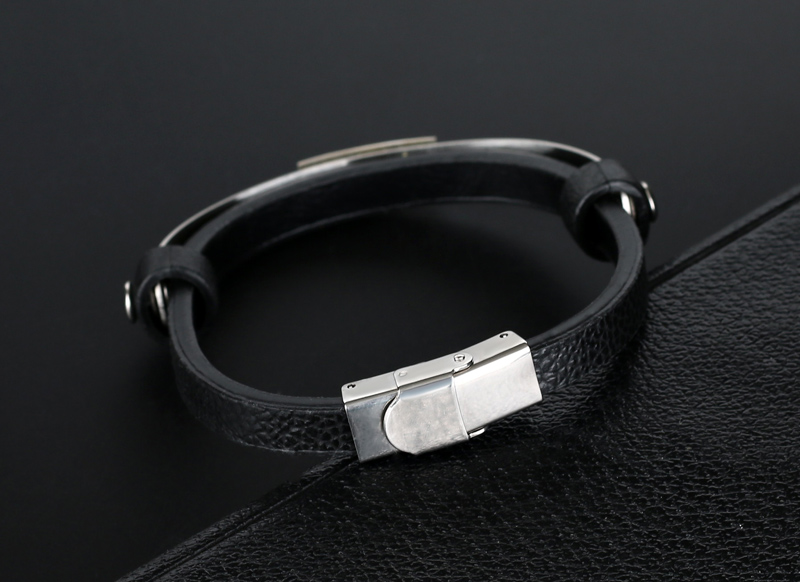 liujun Treble Clef Stainless Steel Musical Bracelet 4