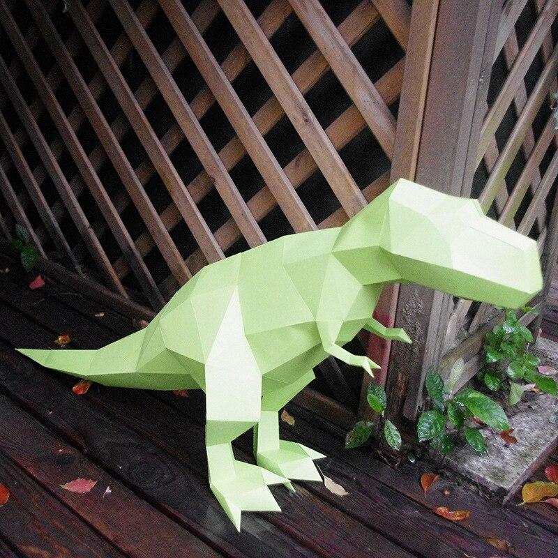 3D головоломки детские игрушки выгодно мудрость Diy Бумага качество Модель Руководство трехмерная Бумага Модель-Trex (18 страниц)