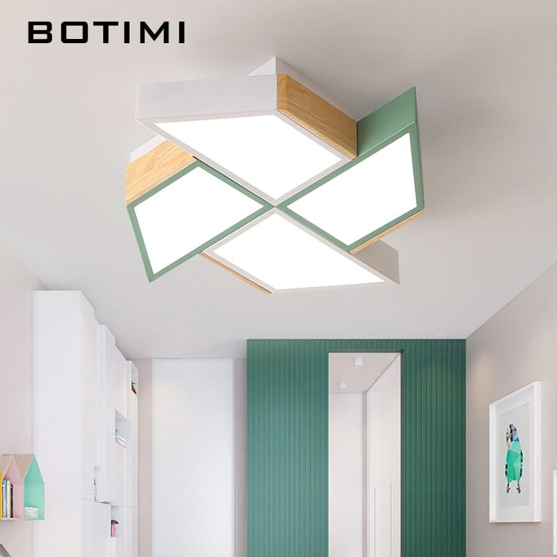 BOTIMI 220V LED Ceiling Lights In Windmill Shape For Living Room Lamparas de techo Bedroom Boys Room Ceiling lamp Rooms Luminare-in Ceiling Lights from Lights & Lighting