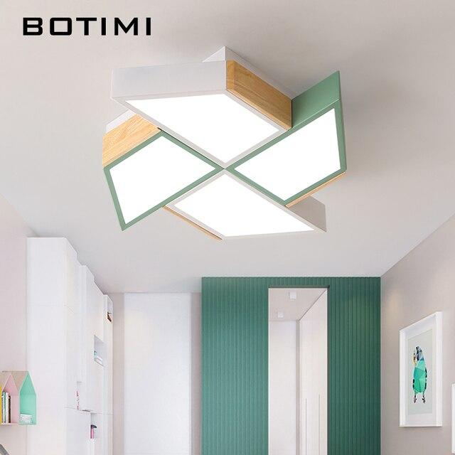 BOTIMI 220V LED Ceiling Lights In Windmill Shape For Living Room Lamparas de techo Bedroom Boys Room Ceiling lamp Rooms Luminare