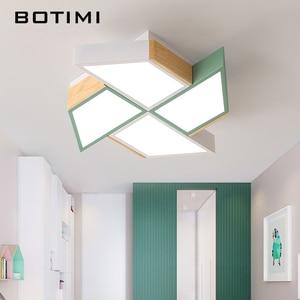 Image 1 - BOTIMI 220V LED Plafond Verlichting In Windmolen Vorm Voor Woonkamer Lamparas de techo Slaapkamer Jongens Room plafondlamp kamers Luminare