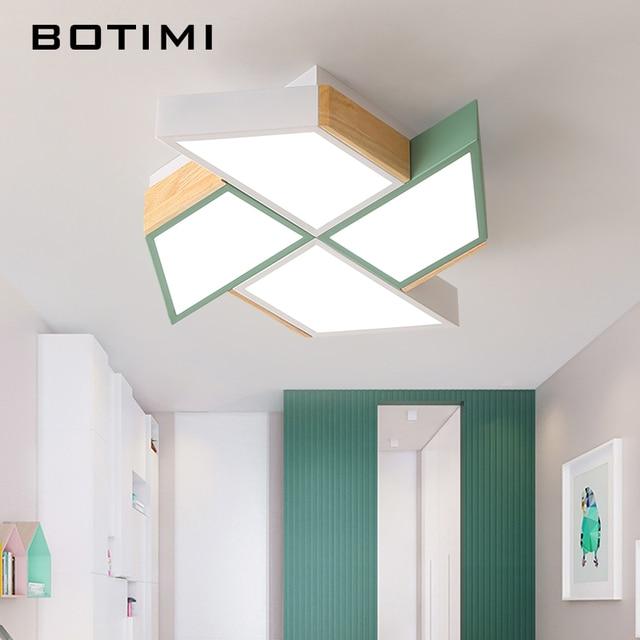 BOTIMI 220V LED Plafond Verlichting In Windmolen Vorm Voor Woonkamer Lamparas de techo Slaapkamer Jongens Room plafondlamp kamers Luminare