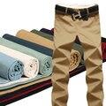 Recta Casual de Negocios Pantalones de Los Hombres de Alta Calidad Diseñador Primavera Otoño Hombre Ocio Pantalones Largos (Tamaño de Asia)