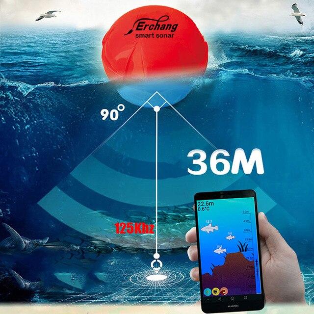 Smart Портативный Рыболокаторы Глубина Sonar эхолот для озеро море Рыбалка глубины сигнализации для iOS iPhone Android