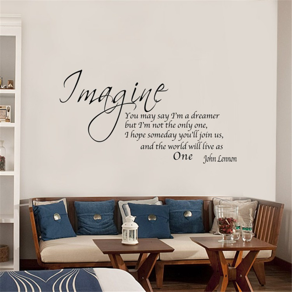 Imagine you may say vinyl wall decal home art font decor for Stickers para pared
