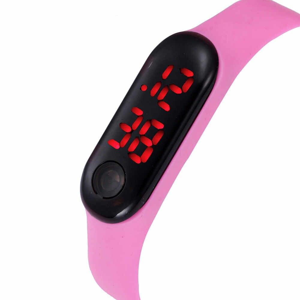 実行ステップ腕時計ブレスレット歩数計カロリーカウンターデジタル LED ウォーキング距離 2019 ホット Мужские часы リロイデ hombre Wd3