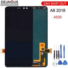 スーパー AMOLED のための samsung A8 液晶 2018 A530f タッチスクリーンデジタイザアセンブリ A530DS ため A530N samsung a530f ディスプレイフレーム