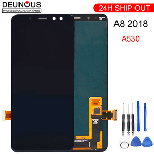 Image 1 - Super AMOLED Für samsung A8 lcd 2018 A530f touchscreen digitizer Montage A530DS A530N für samsung a530f display mit rahmen