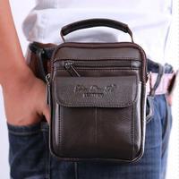 Men S Cowhide Genuine Leather Messenge Shoulder Cross Body Bag Pouch Waist Fanny Belt Hip Bum